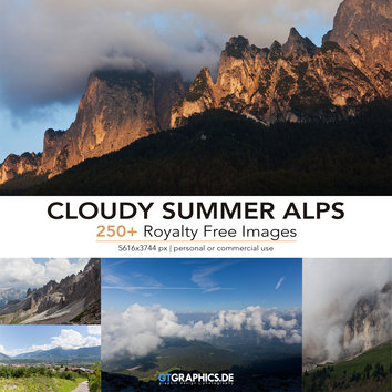 Cloudy Summer Alps Ref Pack
