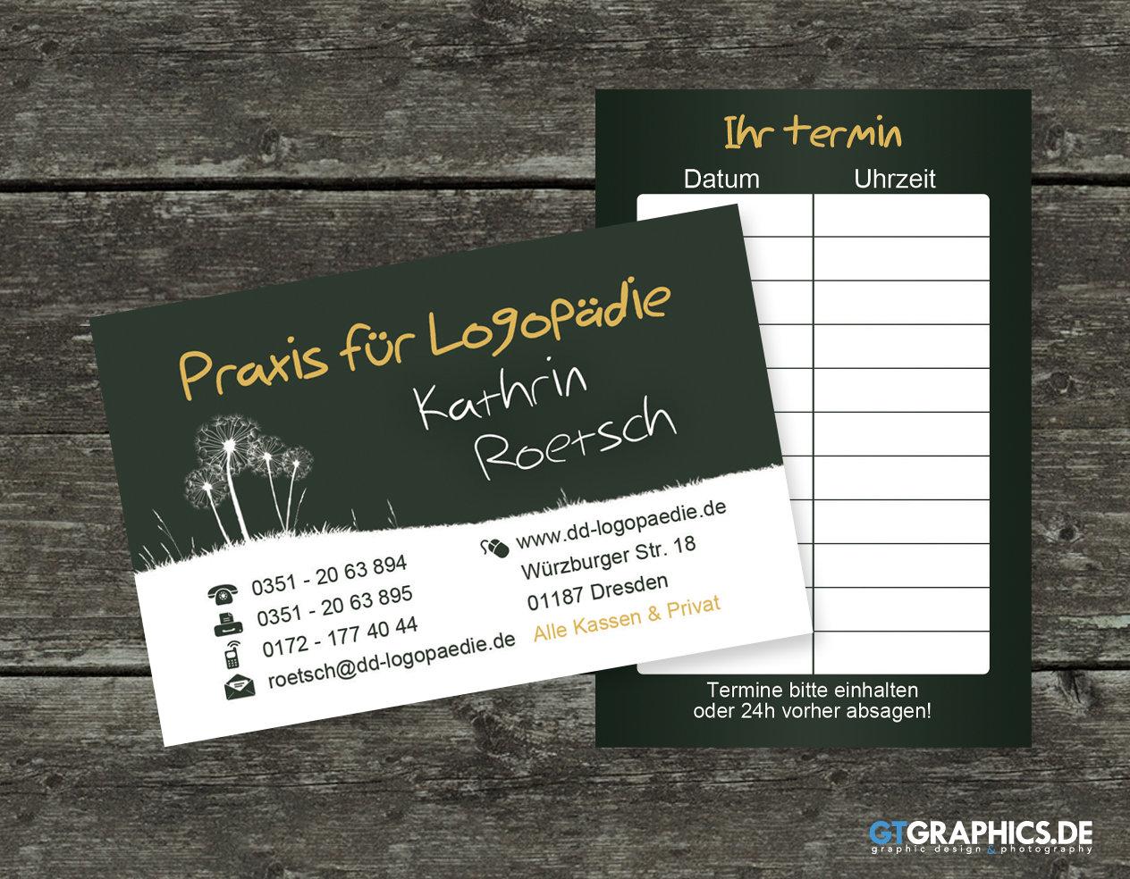 Flyer Visitenkarte Logopädie Roetsch Print Showcase