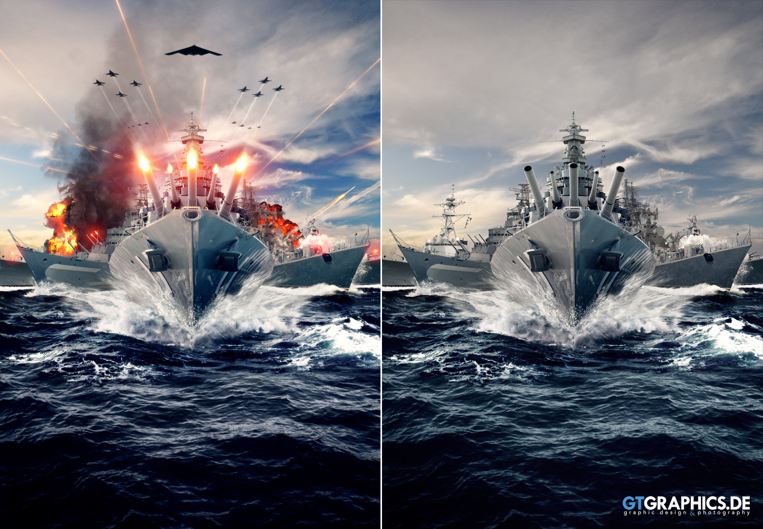 Brief 1 Battleship Before After