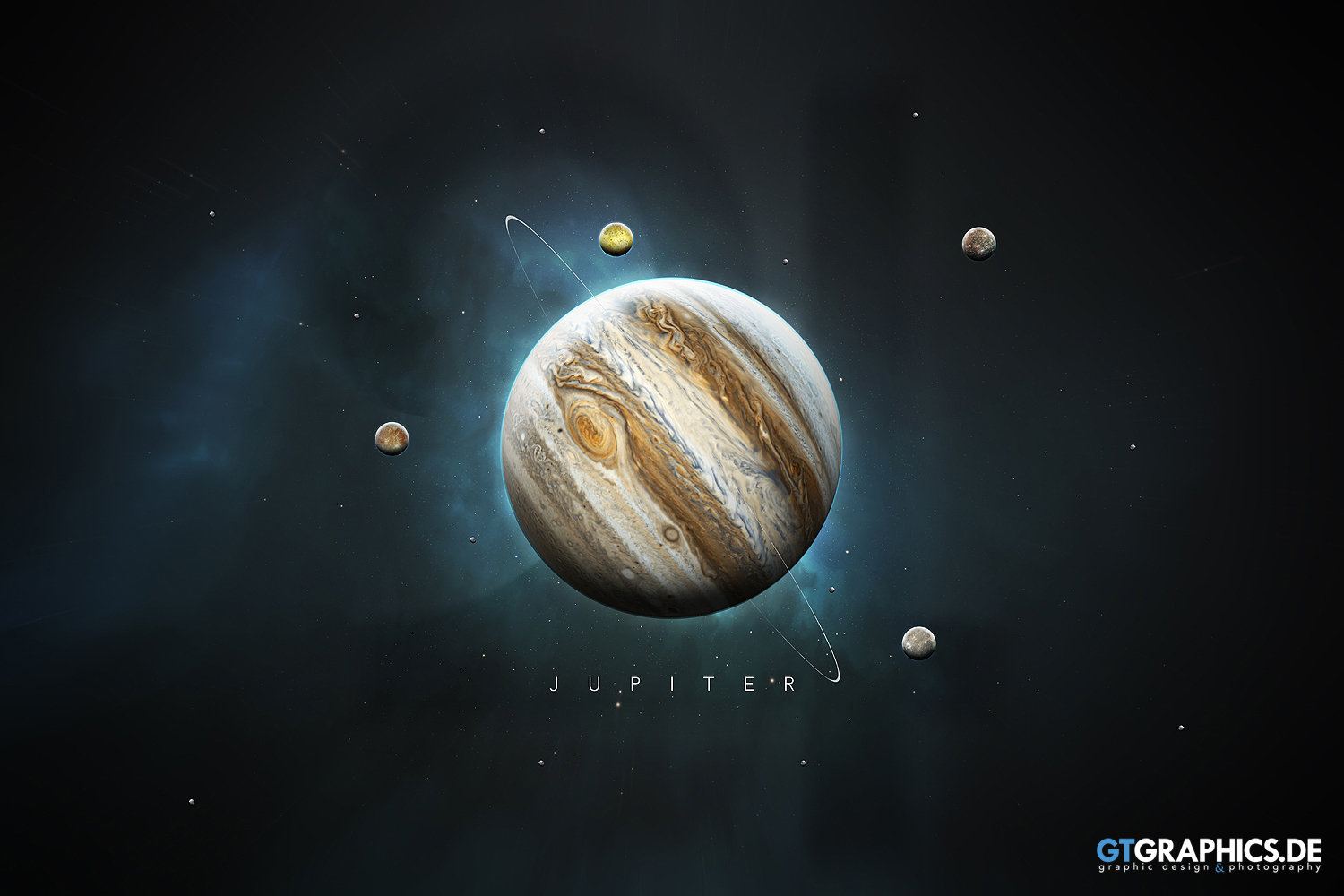 The Solar System Jupiter · Artworks · GTGRAPHICS